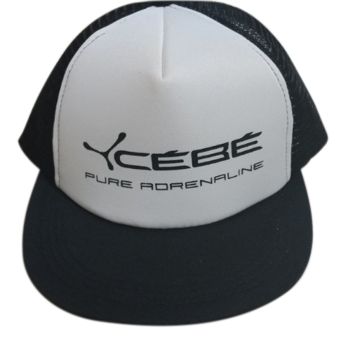 Polyester and Mesh Snap Back Flat Peak with 1 color logo printed